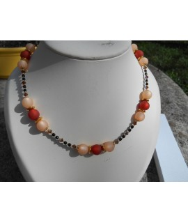 collier en perles marrons polaris